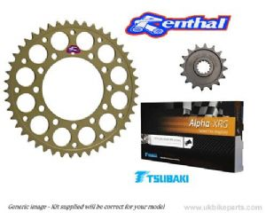 Renthal Sprockets and GOLD Tsubaki Alpha X-Ring Chain - Yamaha YZF 750R (1993-1997)